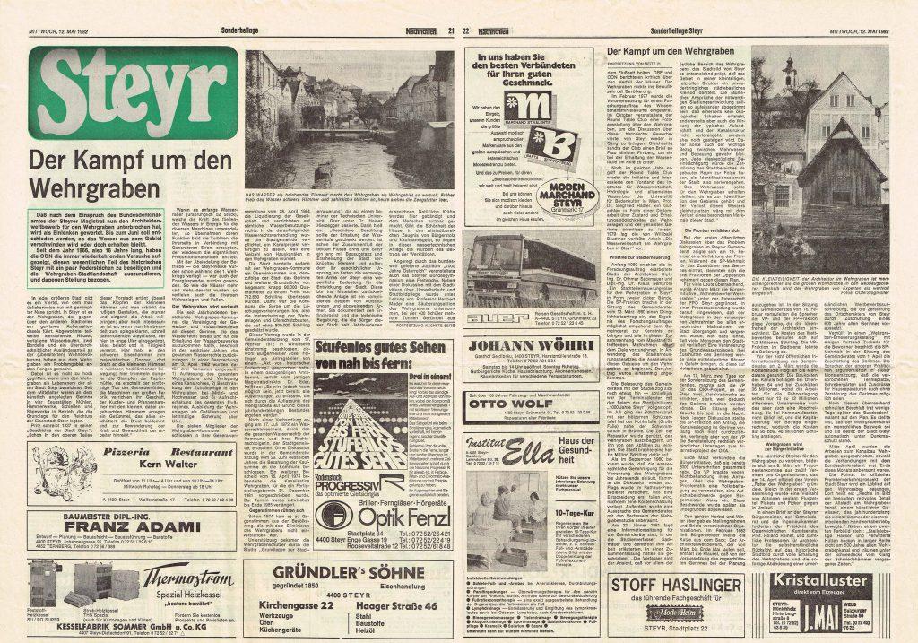 Der Kampf um den Wehrgraben 1982